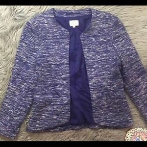 Aritzia Wilfred Exquis Blazer SpaceDye Blue  Sz 8